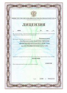 Лицензия первая страница
